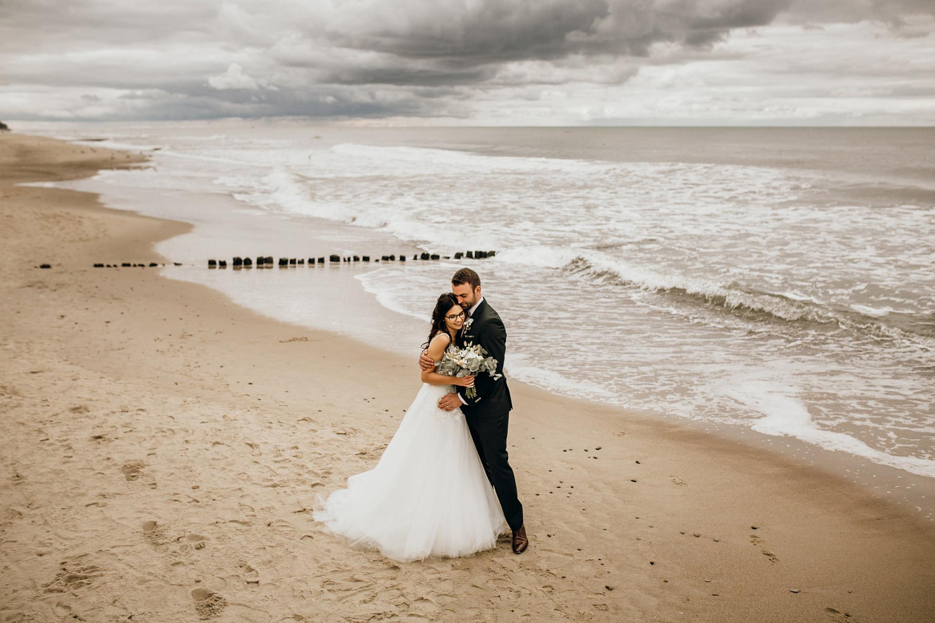 Slub nad morzem